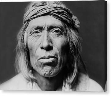 Indian Portraits Canvas Print - Old Zuni Man Circa 1903 by Aged Pixel