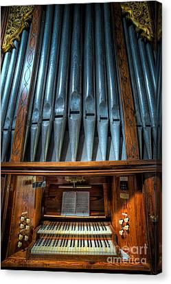 Olde Church Organ Canvas Print by Adrian Evans