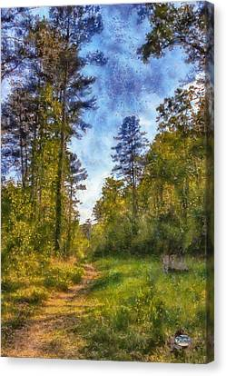 Impressionism Canvas Print - Olde Rope Mill Trail by Daniel Eskridge