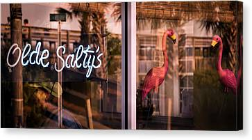 Olde Saltys Reflections Canvas Print by Karen Wiles