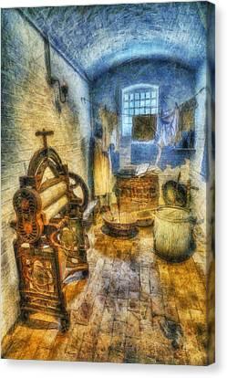Olde Victorian Washroom Canvas Print by Ian Mitchell