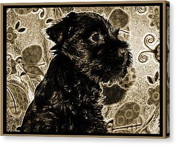 Olde World Canine Canvas Print by Brian Graybill