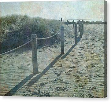 Olde Worlde Beach Canvas Print by Jocelyn Friis