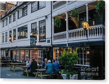 Oldest Coaching Inn In London Canvas Print by Patricia Hofmeester