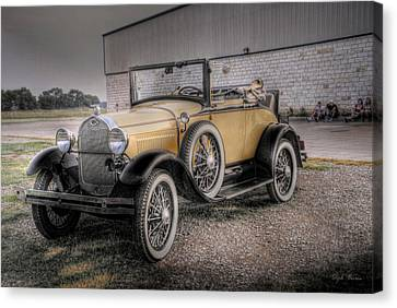 Canvas Print featuring the photograph Old Ford Model A Coupe by Dyle   Warren