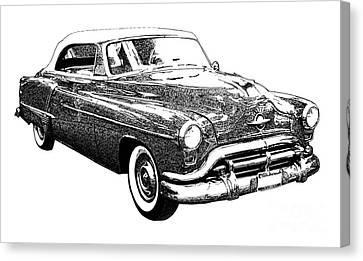 Oldsmobile 1952 Canvas Print by Pablo Franchi