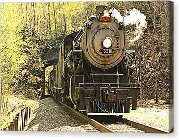 Canvas Print featuring the photograph Ole' #630 Steam Train by Tammy Schneider