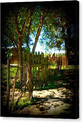 Ole Garden Gate Canvas Print by Sheri McLeroy