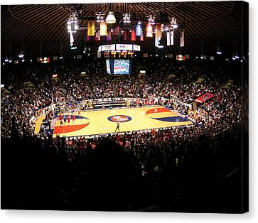 Ole Miss Rebels C.m. 'tad' Smith Coliseum Canvas Print by Replay Photos