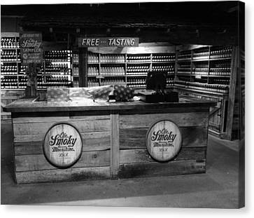 Lightning D Canvas Print - Ole Smoky Moonshine Gatlinburg by Dan Sproul