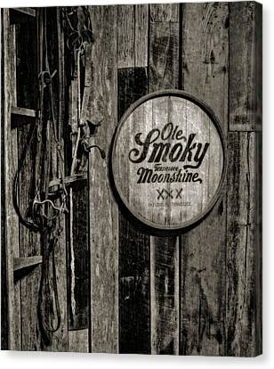 Lightning D Canvas Print - Ole Smoky Tennessee Moonshine by Dan Sproul