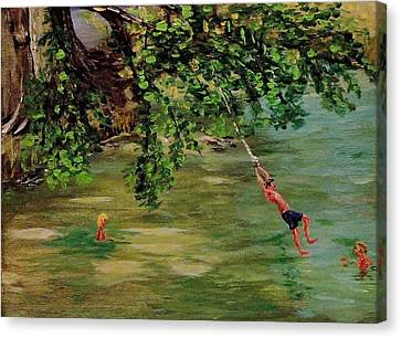 Ole' Swimming Hole Canvas Print by Mike Caitham