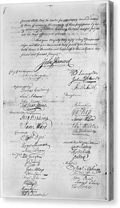 Olive Branch Petition, 1775 Canvas Print by Granger
