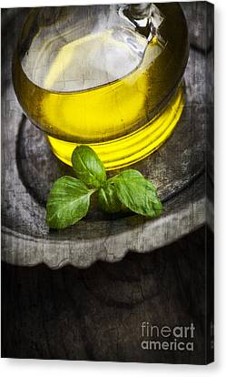 Olive Oil And Basil Canvas Print