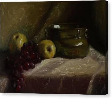 Olive Pottery Canvas Print
