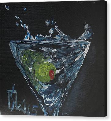 Olive Splash Canvas Print