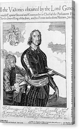 Oliver Cromwell Canvas Print by British Library