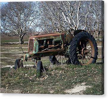 Oliver Farm Tractor Canvas Print by William Havle
