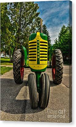 Canvas Print featuring the photograph Oliver Row Crop Ogdensburg Puller by Trey Foerster