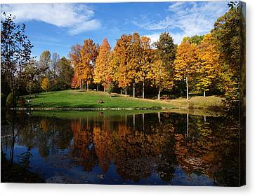 Southern Indiana Autumn Canvas Print - Oliver Winery 2014 by Chuck Johnson