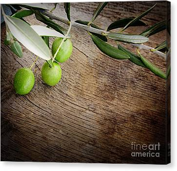 Olives Background Canvas Print by Mythja  Photography
