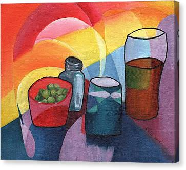 Olives Salt N Beer Canvas Print by William Killen