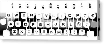Olivetti Keyboard Buttons Canvas Print