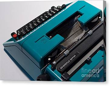 Olivetti Typewriter 11 Canvas Print by Pittsburgh Photo Company