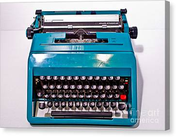 Olivetti Typewriter 2 Canvas Print by Pittsburgh Photo Company