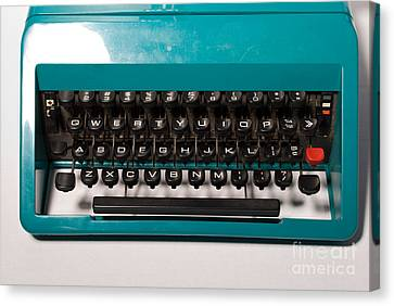 Olivetti Typewriter 4 Canvas Print by Pittsburgh Photo Company
