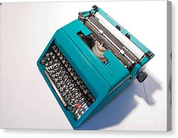 Olivetti Typewriter 7 Canvas Print by Pittsburgh Photo Company