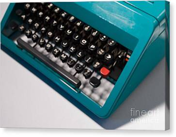 Olivetti Typewriter Soft Focus Canvas Print by Pittsburgh Photo Company