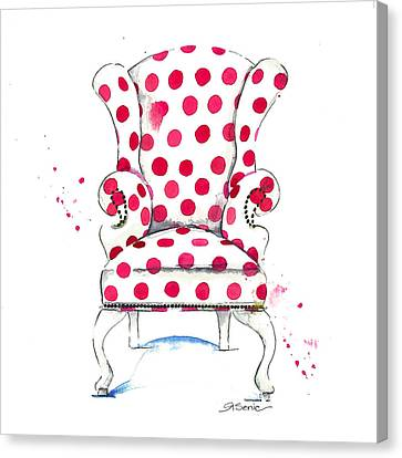 Chairs Canvas Print - Olivia Chair by Roleen  Senic