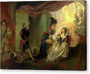 Olivia, Maria And Malvolio From Twelfth Night, Act IIi Canvas Print
