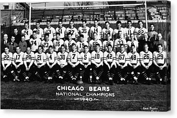 Chicago Bears 1940 Canvas Print by Retro Images Archive