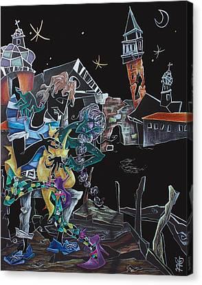 Oltremare - Tango Fantasy Paintings - Contemporary Art By Nacasona Canvas Print by Arte Venezia