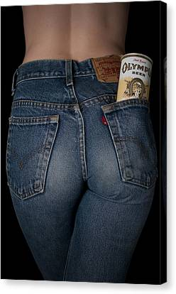 Olympia Beer Ad Canvas Print by Casey Grant