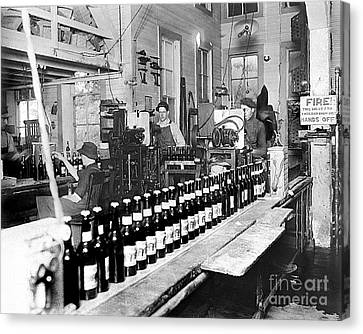 Olympia Brewing Company Bottling Line 1914 Canvas Print