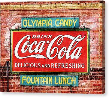 Canvas Print featuring the painting Olympia Candy by Sandy MacGowan
