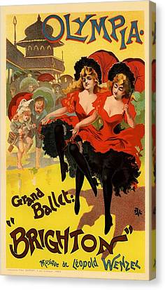 Olympia Grand Ballet Brighton Canvas Print by Gianfranco Weiss