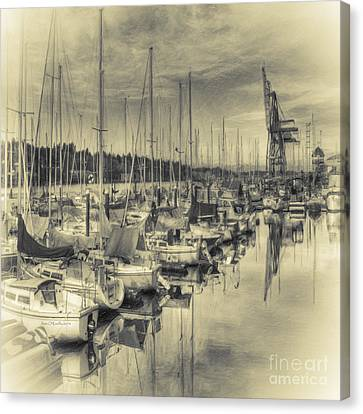 Canvas Print featuring the photograph Olympia Marina 3 by Jean OKeeffe Macro Abundance Art