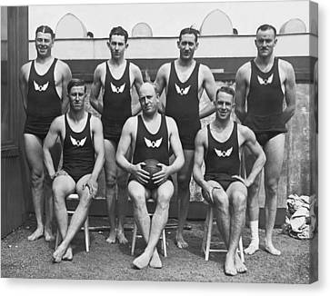 Confidence Men Canvas Print - Olympic Club Water Polo Team by Underwood Archives