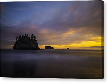 Stacked Canvas Print - Olympic Coast Sunset by Larry Marshall