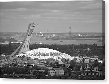Olympic Stadium Montreal Canvas Print by Reb Frost