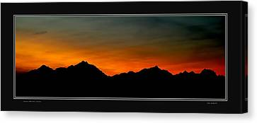 Olympic Sunset Canvas Print by John Bushnell