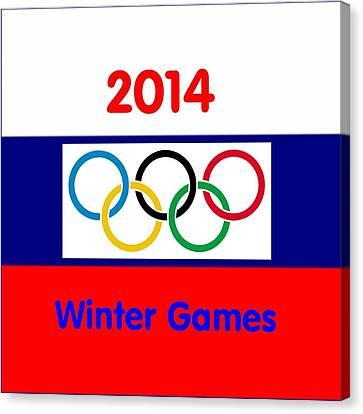 Olympic Symbol  Russian Flag Canvas Print