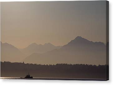 Canvas Print featuring the photograph Olympic Tug by Erin Kohlenberg