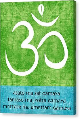 Om Asato Ma Sadgamaya Canvas Print