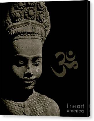 Om Canvas Print by Louise Fahy