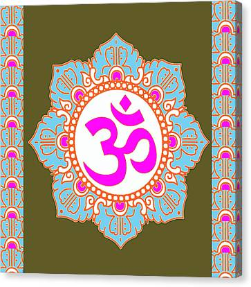 Canvas Print featuring the photograph Om Mantra Ommantra 3 by Navin Joshi